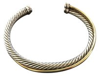 David Yurman Crossover cuff Braclet With Gold