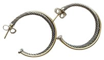 David Yurman Crossover Hoop Earrings With Gold 31mm