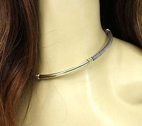 David Yurman David Yurman 14k Yellow Gold 925 Silver Cable Wire Choker Necklace