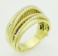 David Yurman David Yurman 18k Yellow Gold 0.75 Carat Vs G Diamond Dome Ring R84