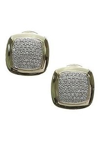 David Yurman David Yurman 18k Yellow Gold Pave Diamond Albion Earrings