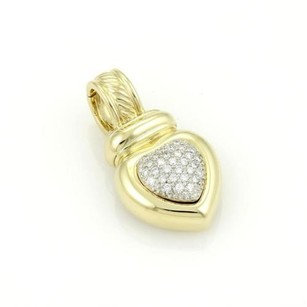 David Yurman David Yurman 18k Yellow Gold Pave Diamonds Heart Pendant