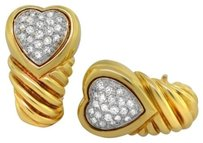 David Yurman David Yurman 18k Yellow Gold Shrimp Heart Diamond Earrings