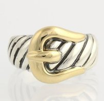David Yurman David Yurman Belt Band Ring - Sterling Silver 18k Yellow Gold - 14