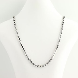 David Yurman David Yurman Box Chain Necklace 14 - Sterling Silver 5mm