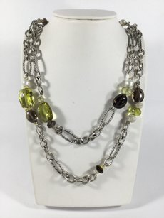 David Yurman David Yurman Figaro Chain with Smokey Quartz Pearls