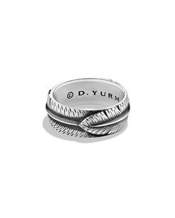 David Yurman David Yurman Frontier Feather Band Ring