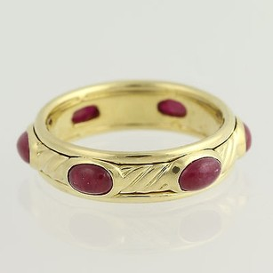 David Yurman David Yurman Ruby Ring - 18k Yellow Gold Band July Designer 3.00ctw