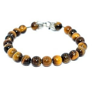 David Yurman David Yurman Spiritual Beads Bracelet With Tigers Eye Orang
