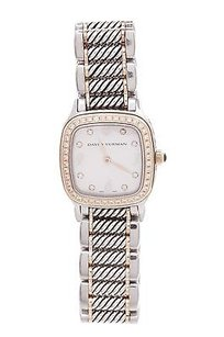 David Yurman David Yurman Sterling Silver 18k Gold Diamond Thoroughbred Watch