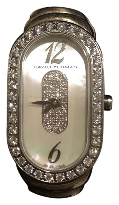 david yurman ladies diamond silver and mother of pearl david yurman madison watch rp