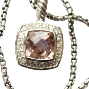 David Yurman morganite authentic Albion pendant with 17