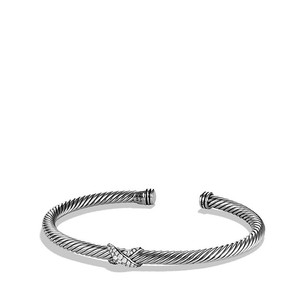 David Yurman X Station Bracelet with Diamonds (Medium)