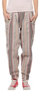 Relaxed Pants Gray Red