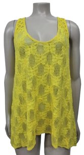 Deletta Anthropologie Poinciana Lace Top Yellow