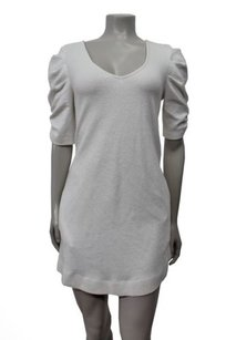 Deletta short dress Cream Ruched Sleeves Textured Tunic on Tradesy