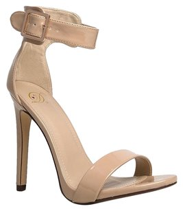 Delicious 30heelsale Ankle-strap Beige Sandals