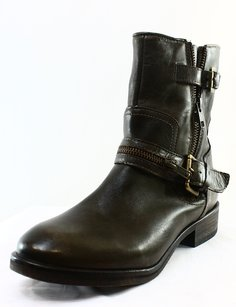 DESIGNER BRAND Fashion-ankle Leather 3369-0001 Boots