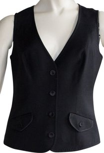 Diane Von Furstenberg Dvf Wool Button Closure Sz 6 Perfect Vest