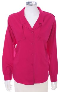 Diane von Furstenberg Button Down Shirt MAGENTA
