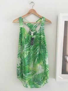 Diane von Furstenberg short dress Green Tropical Tunic on Tradesy