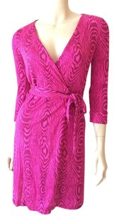 Diane von Furstenberg short dress Pink Dvf Julian Wrap Mini on Tradesy