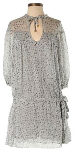 Diane von Furstenberg short dress Gray Mini Silk Keyhole Cinch Drop Waist on Tradesy