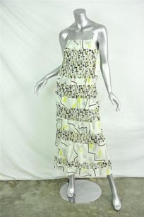 White Maxi Dress by Diane von Furstenberg Womens Silk Chiffon Tank Long Maxi Shift