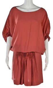 Diane von Furstenberg Womens Coral Above Knee Sheath Dress