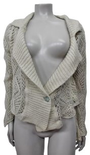 Diesel Open Knit Crop Cardigan Single Button Closure Sweater