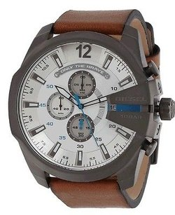 Diesel Diesel Mens Dz4280 Diesel Chief Series Quartz Brown Watch Minor Scratches