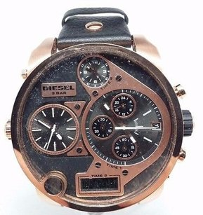 Diesel Diesel Mens Mr.daddy Dz7261 Black Leather Analog Quartz Watch
