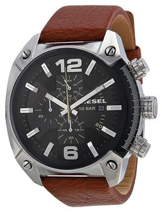 Diesel DZ4296 Overflow Chroonograph Black Dial Brown Leather Men's Watch