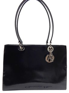 Dior Christian Lady High Tote in Black