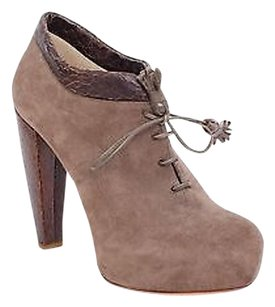 Dior Christian Suede Brown Gray Boots