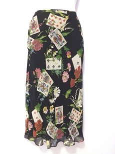 Dior Christian Galliano Playing Card Theme Skirt Black