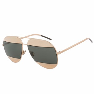 Dior Christian Dior Split 1 Sunglasses 00085 Gold Frame Green Lens
