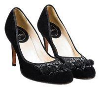Dior Christian Velvet Black Pumps