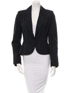 Dior Christian Dior Boutique Paris Black Fitted Eyelet Embroidery Blazer Jacket 408