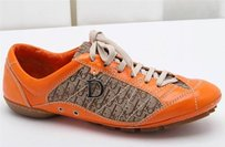 Dior Christian Orange Leather Athletic