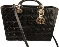 Dior Lady Large Purse Tote in Black