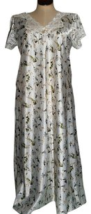 Ivory White Green Maxi Dress by Dior Nightgown Vintage Lace Trim