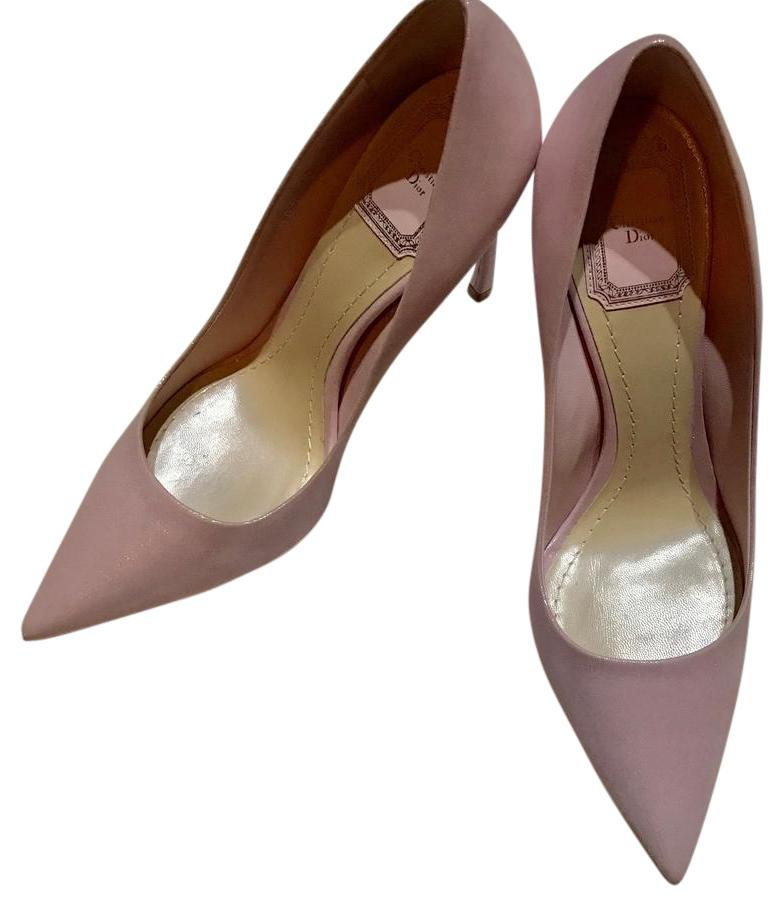 Dior Pink Christian Power Leather 110mm Pumps Size US 7 Regular (M, B)