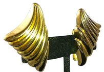 Dior Vintage Christian Dior Gold Phoenix Wing Earrings