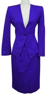 Dior Vintage Christian Dior Womens Purple Wool Suit SZ 6