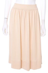 Dior Vintage Couture Wool Knit Pink Pleated Skirt Peach
