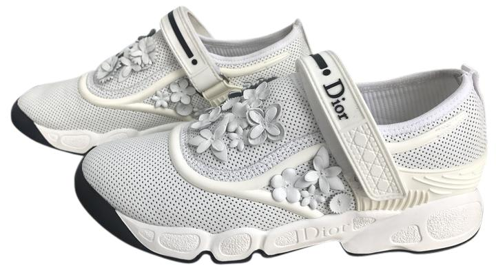 Dior White Classic Flower Fusion Slip-on Trainer Sz. 36.5 Euro Sneakers Size US 6.5 Regular (M, B)