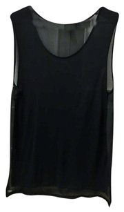 Divided by H&M Sheer Sleeveless Tunic Top Black