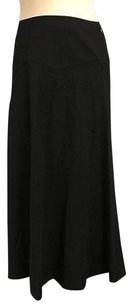 DKNY Womens Side Zip Skirt Black