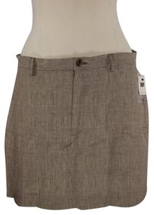 DKNY Petite Womens Brown Skirt Multi-Color